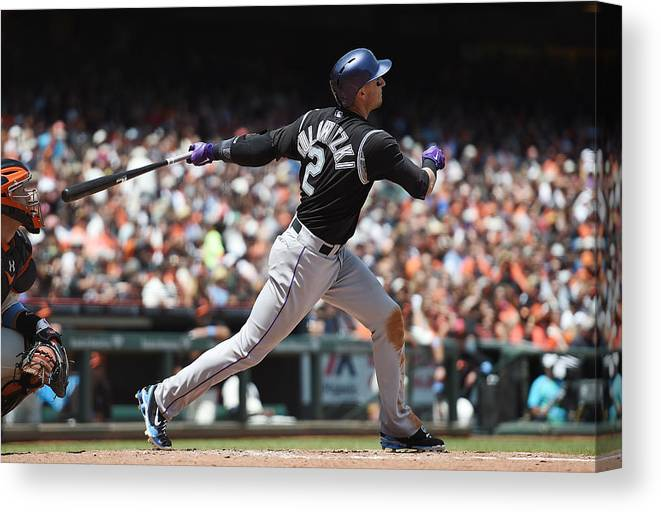 San Francisco Canvas Print featuring the photograph Troy Tulowitzki by Thearon W. Henderson