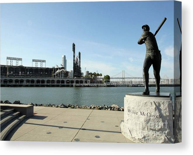 San Francisco Canvas Print featuring the photograph Willie Mccovey by Icon Sports Wire