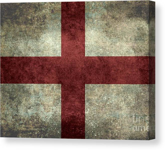 Flag of England St Georges Cross Vintage version to scale by Bruce Stanfield