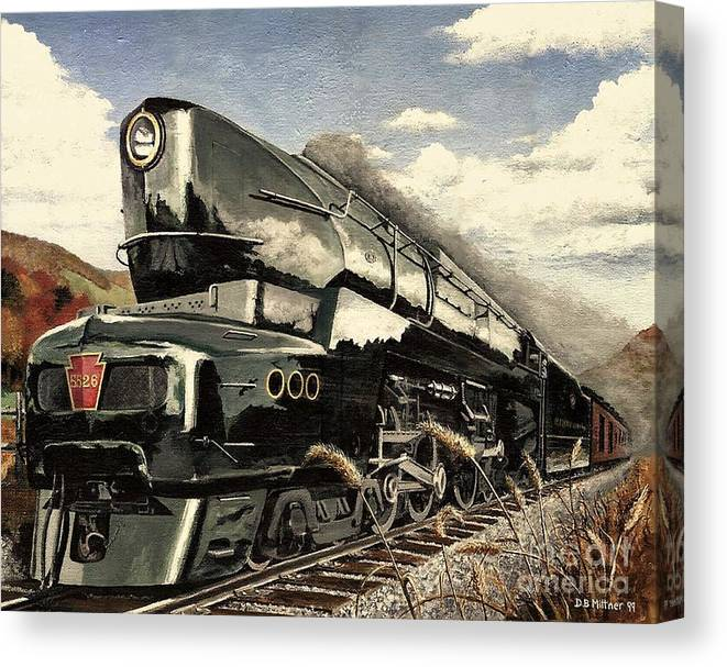 Pennsylvania Railroad Canvas Print featuring the painting Showin Off by David Mittner