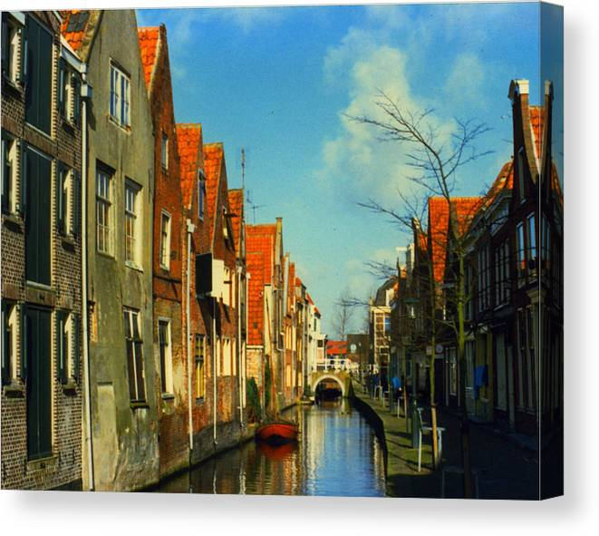 Amsterdam Canvas Print featuring the photograph Amsterdam Canal by Jennifer Ott