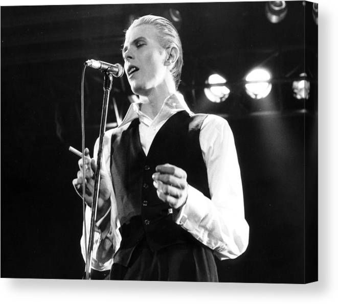 David Bowie Canvas Print featuring the photograph David Bowie 1976 #3 by Chris Walter