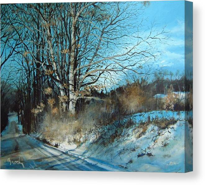 Landscape Canvas Print featuring the painting The Calling by William Brody