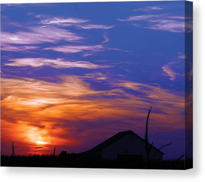 Sunset Canvas Print featuring the photograph Visionary Sunset by Carl Perry