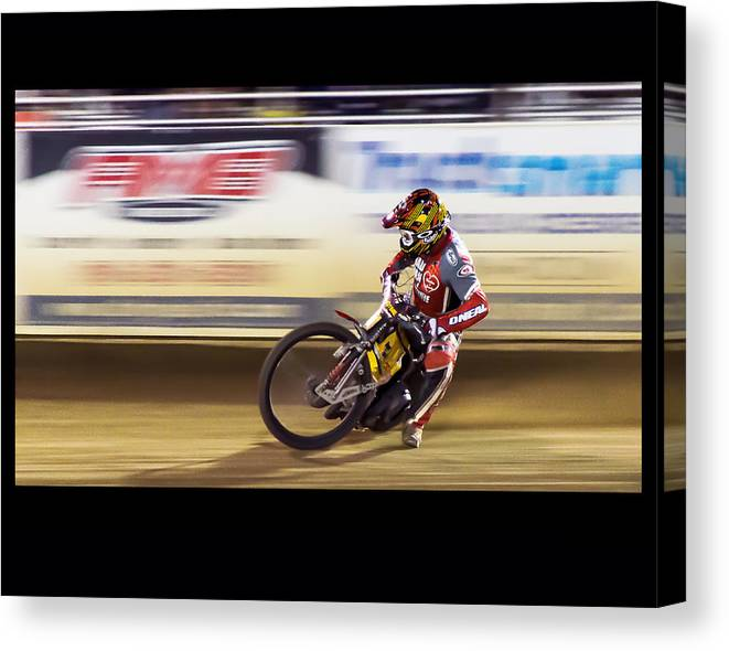 Motorcycle Canvas Print featuring the photograph Sweet Spot by Mark MIller
