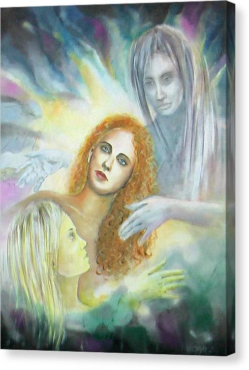Limited Time Promotion: My Angels Stretched Canvas Print