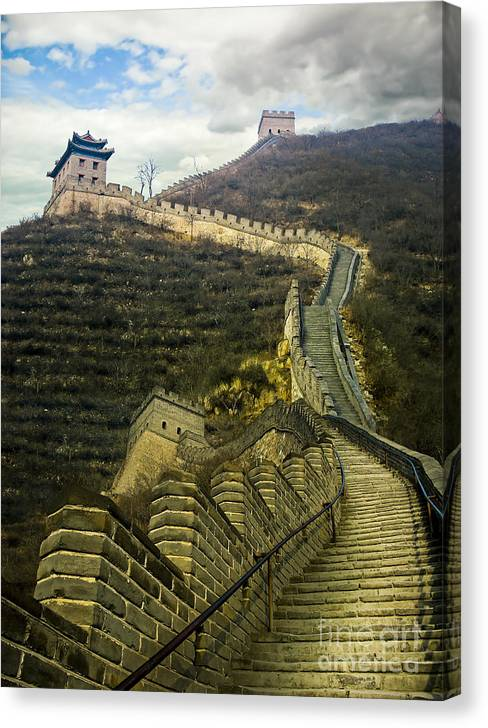 Limited Time Promotion: Up The Great Wall Stretched Canvas Print