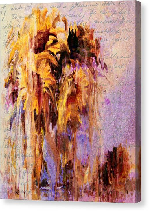 Limited Time Promotion: Lament Of Sunflowers Stretched Canvas Print