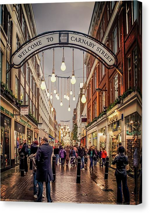 Limited Time Promotion: Welcome To Carnaby Street London Stretched Canvas Print