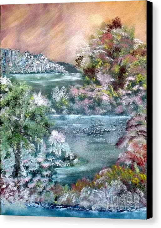 Landscape Canvas Print featuring the painting Eden by Chester Carter