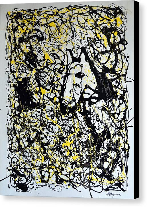 Abstract Canvas Print featuring the painting A Friendly Face by J R Seymour