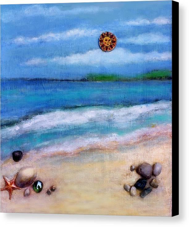 Beach Canvas Print featuring the painting Three Beaches A by Mary Ann Leitch