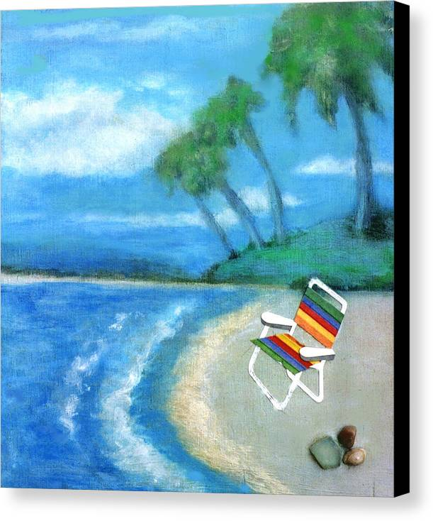 Beach Canvas Print featuring the painting Three Beaches B by Mary Ann Leitch