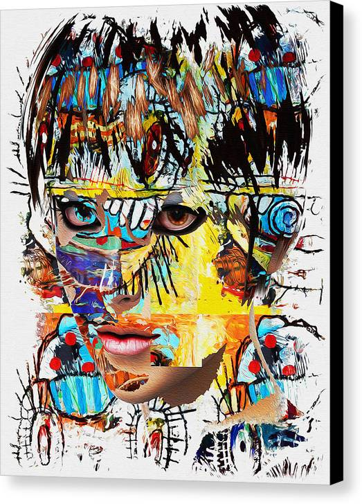 Canvas Print featuring the digital art Fa.036 by Allan East