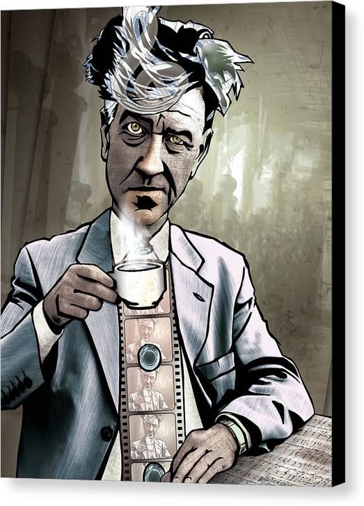 Fine Art America Canvas Print featuring the drawing David Lynch - Strange Brew by Sam Kirk