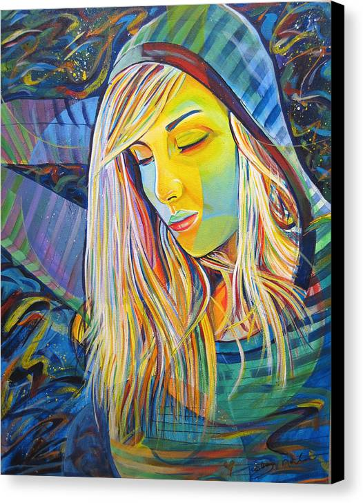 Colorful Canvas Print featuring the painting My Love by Joshua Morton