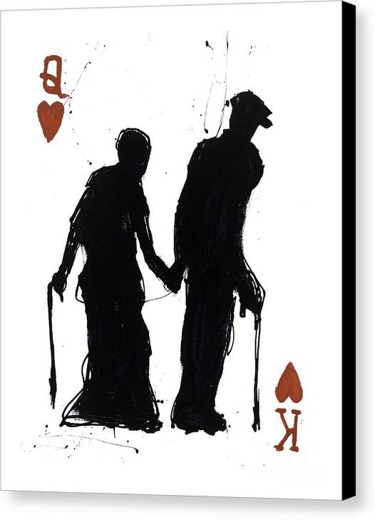 Popheart Canvas Print featuring the painting Old Love by Mark Hanham