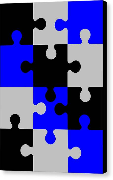 Puzzle Canvas Print featuring the digital art Puzzle by Asbjorn Lonvig