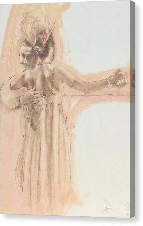 Dance Canvas Print featuring the mixed media Tango Study 4 by Charles Willmott