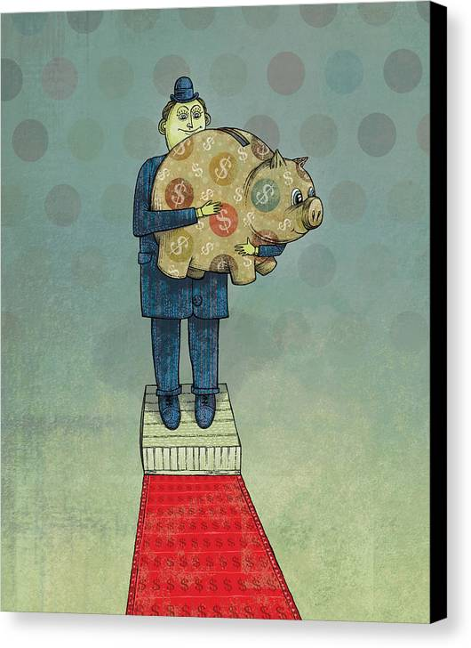 Canvas Print featuring the digital art Holding Tight by Dennis Wunsch