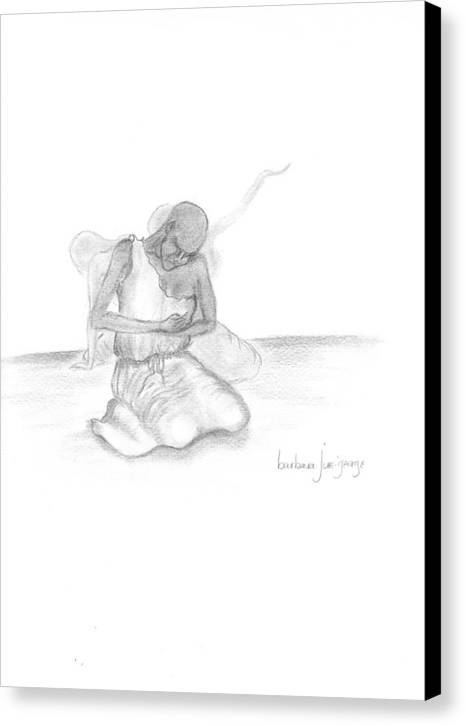 Canvas Print featuring the drawing Unspoken Groans by Bee Jay
