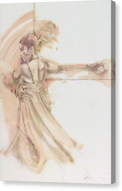 Dance Canvas Print featuring the mixed media Tango Study 2 by Charles Willmott