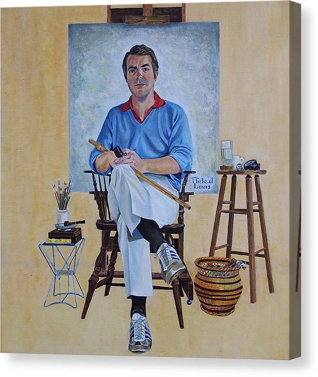Portraiture Canvas Print featuring the painting A Rockwell Tribute by Michael Lewis
