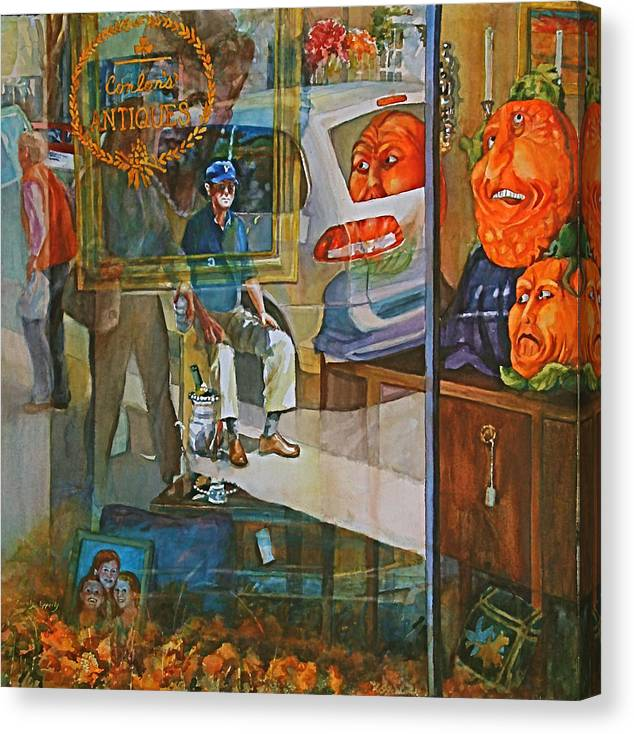 Figure Canvas Print featuring the painting Past Waiting by Carolyn Epperly