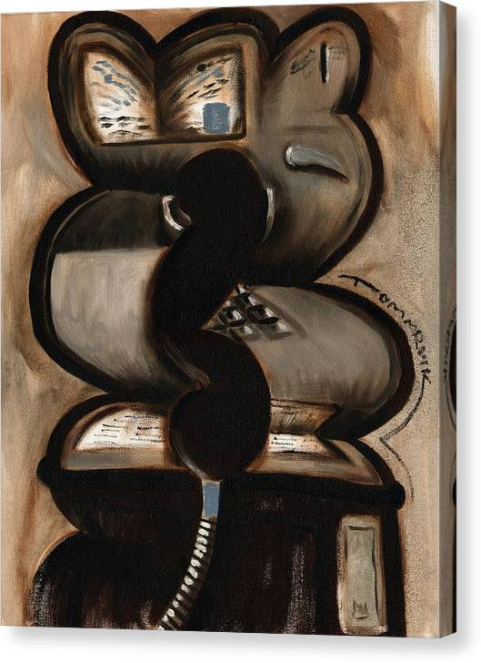 Payphone Canvas Print featuring the painting Tommervik Abstract PayPhone Art Print by Tommervik