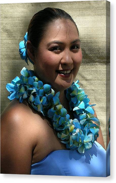 Hawaii Iphone Cases Canvas Print featuring the photograph Hula Blue by James Temple