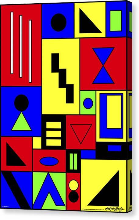 Native Art Canvas Print featuring the digital art A Hurt Soul by Asbjorn Lonvig