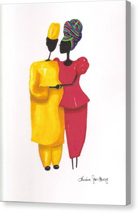 Painting Canvas Print featuring the painting Devotion by Bee Jay
