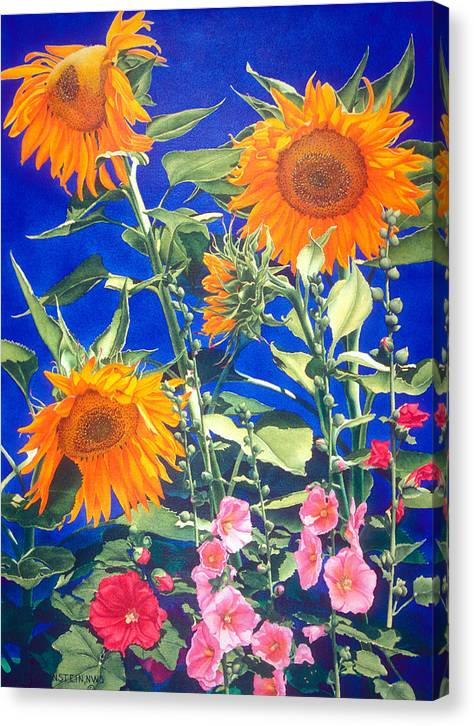 Floral Canvas Print featuring the print Suncatchers by Mary Backer
