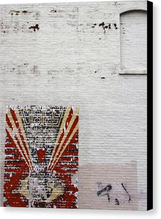 Street Canvas Print featuring the photograph Obey by MK Rhea