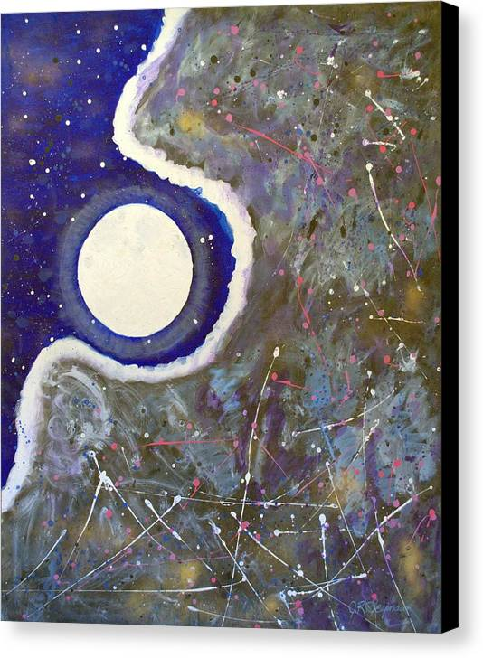 Impressionist Painting Canvas Print featuring the painting Cosmic Dust by J R Seymour
