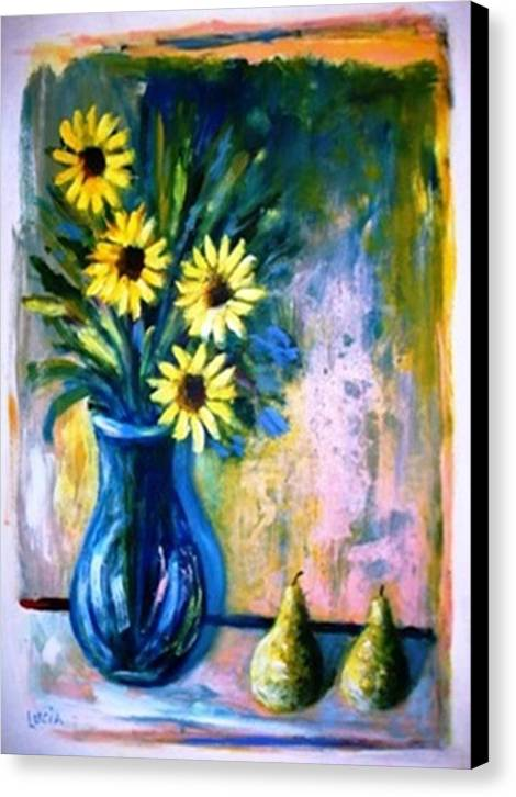 Floral Canvas Print featuring the print French Vase by Carl Lucia