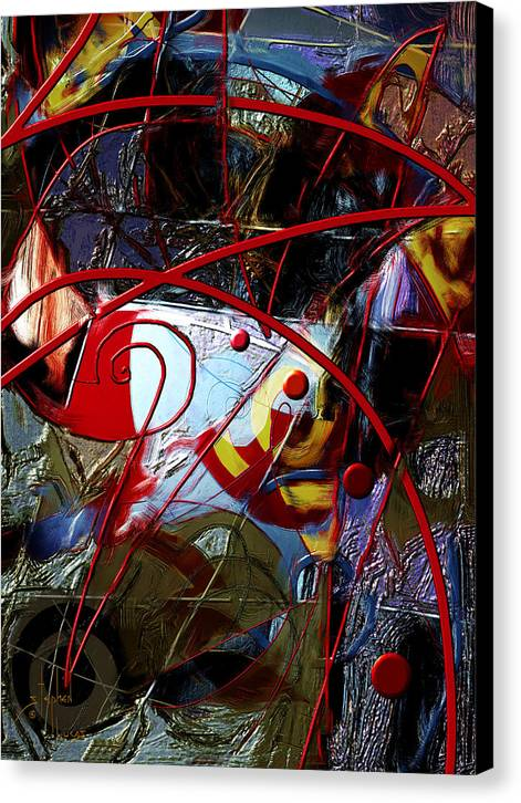 Digital Canvas Print featuring the digital art Going Inward by Stephen Lucas
