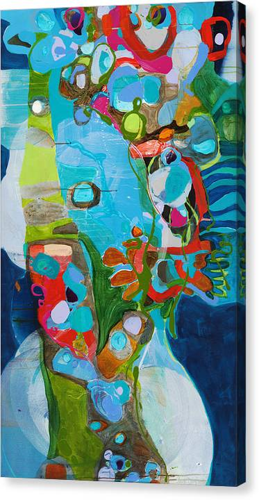 Abstract Canvas Print featuring the painting El Arbol by Claire Desjardins