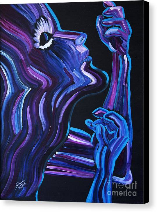 Figure Canvas Print featuring the painting Reach by JoAnn DePolo