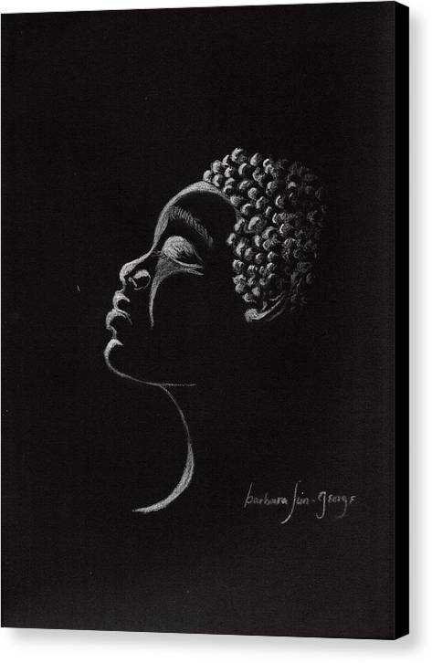 Canvas Print featuring the drawing Midnight Prayers by Bee Jay