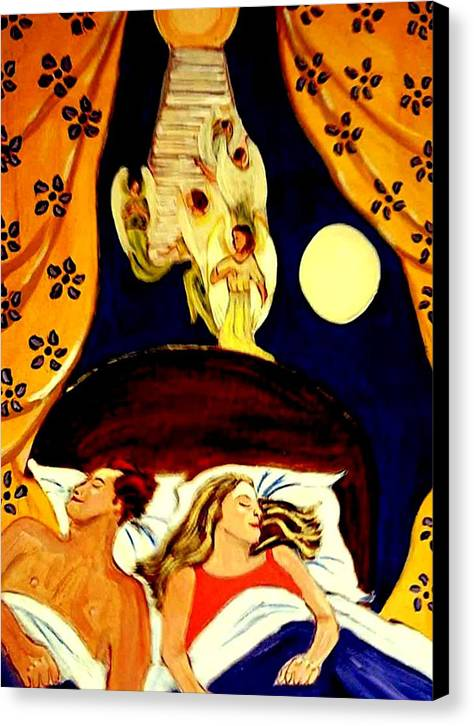Dreams Canvas Print featuring the painting Suenos by Rusty Gladdish