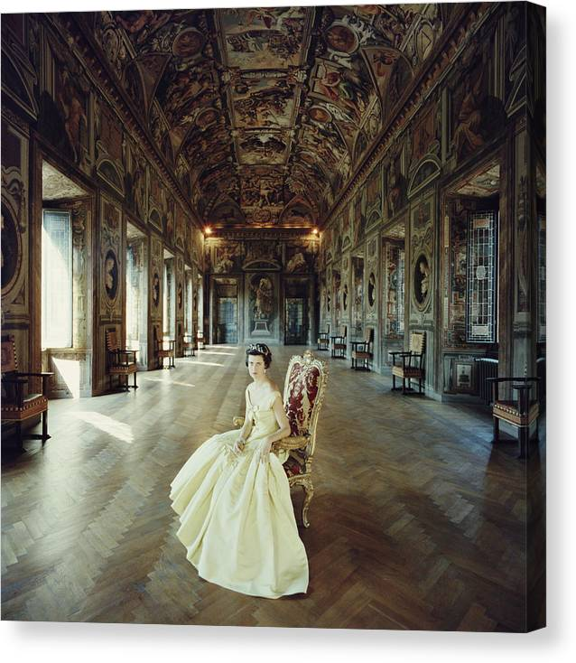 Crown Canvas Print featuring the photograph Domitilla Ruspoli by Slim Aarons