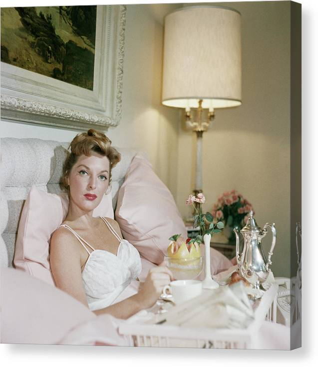 Singer Canvas Print featuring the photograph Julie London by Slim Aarons
