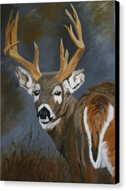 13 Pointer Canvas Print featuring the painting Chance Meeting by Robert Tower