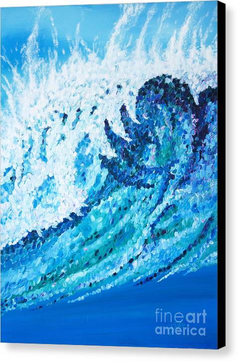 Ocean Canvas Print featuring the painting Watercolor by JoAnn DePolo