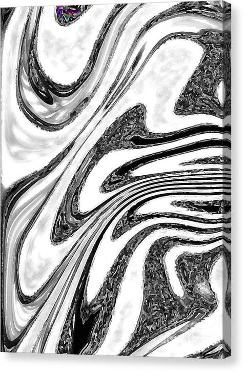 Funky Black White Colour Art Abstract Canvas Print