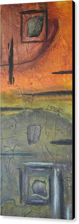Abstract> Expressionism Canvas Print featuring the painting Absent Eyes by Lance Blust