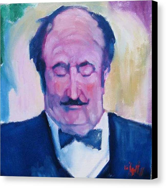 Figure Canvas Print featuring the painting The Waiter by Kevin McKrell