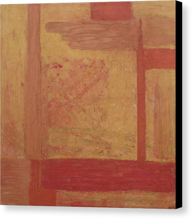 Gold Paintings Canvas Print featuring the painting Copper And Gold by Shiree Gilmore