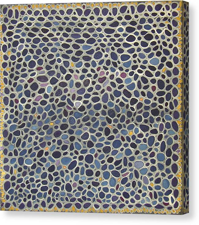Blue Abstract Canvas Print featuring the painting Blue Net by Ani Magai
